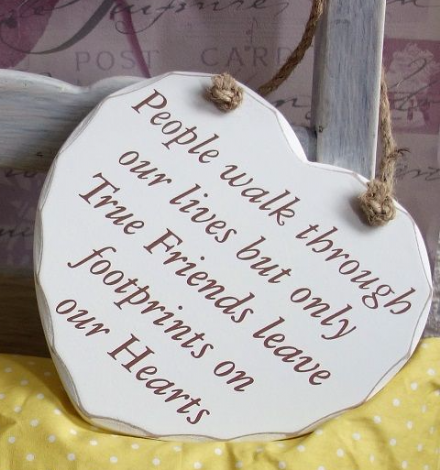 50% OFF People walk through our lives... Hanging heart